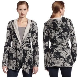 Lucky Brand Jacket Printed Jingo Hooded Floral S